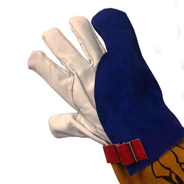 Tig welding finger shield leather