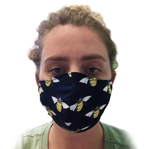Patterned fabric facemasks