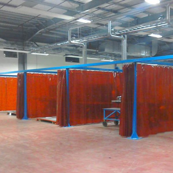 Welding bay from Tusker Industrial Safety