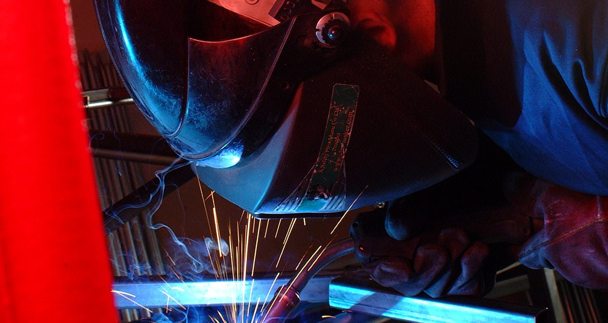 Welding image for the about page banner