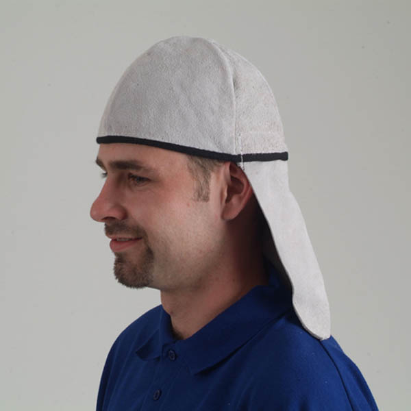 Tusker Leather Skull Cap For Welding Quality Ppe Made In The Uk